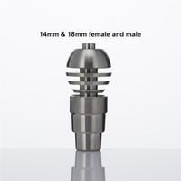Wholesale Male Female Crimp - 4 IN 1 Sphere Titanium Nail 14mm 18mm Male Female 2 Parts Grade 2 Titanium Dab Rig Ti Nails 236