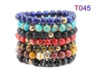 Wholesale Gift Products For Christmas - Zenger Color nuture stone bracelet New Innovative product genuine leather fashion birthday gift for mens watch lover bracelet bangles