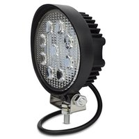 Wholesale Tractor Light Pcs - 1 pcs 4inch 27w round led work light flood light fog driving headlight for motorcycle tractor truck trailer suv boat 27w work light