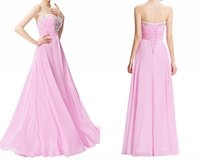 Wholesale Grace Karin Formal Gowns - Evening Dress Robe Soiree Grace Karin Crystal Beaded Pink Formal Gowns For Party Special Occasion Dress HY1373