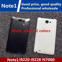 Wholesale Galaxy Note1 - Stock, high quality DHL Battery plastic Housing back Cover Case Replacement Parts for Samsung Galaxy note1 9220 9228 7000 i889with logo