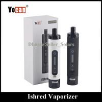 Wholesale multi build - Original Yocan iShred Herbal Vaporizer 2600mAh Built In Lipo Capacity Hery Herb Vape Pen Starter Kit Black White Color
