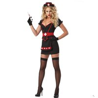 Wholesale Hot Nurse Uniform - Hot Porn Cosplay Nurse Uniform Temptation to nurse Sexy lingerie women costumes Sexy underwear Halloween Role play