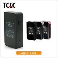 Wholesale Electronic Cigarette Batterie - Authentic Sigelei T150 150W TC VW APV Box Mod dual 18650 batterie Electronic Cigarette MOD Touch screen VS SMY Touch Box mod
