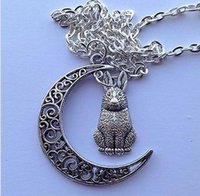 Crescent Moon Rabbit Bunny Hare Charm Wicca Paid 18