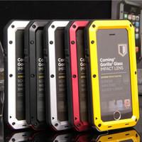 metall aluminium iphone 5c fall großhandel-Luxury Dirt Shock wasserdicht stoßfest Aluminium Gorilla Metall Schutzhülle für iPhone 7 plus 5 s 5c 6 6 s / 6 s plus Rüstung mit Paket