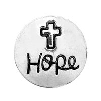 Wholesale Hope Days - Wholesale noosa chunk metal alloy Save you I LOVE YOU Cross Hope snap buttons copper jewelry