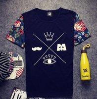 Wholesale Hip Hop Clothing Free Shipping - Wholesale-2016 men hip hop fashion men urban clothing swag harajuku summer tops t shirts flora print man tshirts free shipping NZ107