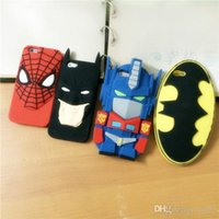 Neueste 3D Superman Held Transformers Bat Man Spiderman Silikon Tasche mit Opp Beutel für iPhone 6