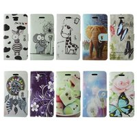 Wholesale Iphone 5c Case Jelly - Flip Fashion Case For apple iphone 5C PU Leather zebra elephant giraffe butterfly dreamcatcher violet jelly dandelion best-selling cases