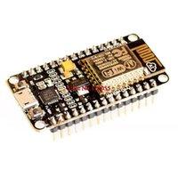 puerto usb pcb al por mayor-Al por mayor-módulo inalámbrico NodeMcu Lua WIFI Internet de las cosas placa de desarrollo basado ESP8266 CP2102 con antena pcb y puerto usb