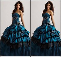 Wholesale Sexy Green Corset Skirt - Sweetheart Hunter Green Quinceanera Dresses Ball Gowns Gothic Dresss 2017 New Corset Ruffles Satin Skirt 16 Gilrs Prom Party Gowns Custom