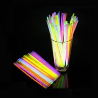 1000pcs / lot 7.8inch Multi Color Glow Fluorescence Lumière Sticks Bracelet Colliers Neon Light Xmas Party LED clignotant Baguette Novelty Toy ZA0881