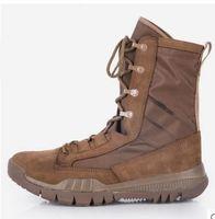 kaliteli yürüyüş botları toptan satış-Yüksek kalite 2017 Yeni Ordu Çizmeler Erkek Taktik Çizmeler Ayakkabı Çöl Açık Yürüyüş Deri Çizmeler Askeri Meraklıları Savaş Ayakkabı