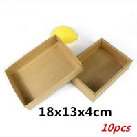 Wholesale Moon Cake Paper Box - 18x13x4cm 10pcs Advanced brown cow card packaging   heaven and earth covered cake roll, biscuits, chocolate, moon cake boxes