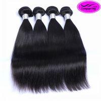 ingrosso capelli umani per il commercio all'ingrosso-Brasiliani dell'onda diritta non trattata 9A capelli umani all'ingrosso peruviano malese cambogiano indiano estensioni dei capelli 3 o 4 pacchi lotto