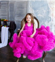 Wholesale red wedding frocks resale online - Little Flower Girls Dresses Weddings Baby Party Frocks Children Graduation Christening Dress Kids Prom Dresses Evening Gowns