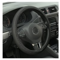 Wholesale new leather steering wheel cover - Sale New Universal Anti-slip BreathablePU Leather DIY Car Steering Wheel Cover Case With Needles and Thread