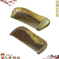 Wholesale Manufacturer Curly Hair - Manufacturers wholesale Authentic violet wooden comb Green wingceltis wooden comb massage comb magical color Hairdressing wooden comb