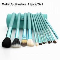 Wholesale Plastic Plums - Ana Makeup Brush 12 pieces Set Professional Makeup Brush set Kit Cosmetic Make Up Tools DHL Free Shiping