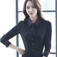 14d5eb055fdf4 fashion OL blusa elegant women clothing long sleeve tie shirt Formal Career blouse  plus size office ladies chiffon tops