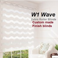 Wholesale Including Free Shipping Product - Europe Wave Slat Zebra Roller Blinds (custom made finished product) free shipping