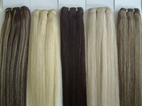 Wholesale Light Brown Remy Hair Weave - 200g Silky Straight 10''- 22'' 24'' 26'' 28'' Any Color 100% Indian Remy Human Hair Extension Hair Weave Hair Wefts