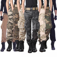 Wholesale fit cargo pants - mens cargo pants Men's Series Polyester Cotton Pants Mens Casual Military Army Cargo Work Cargo Pants Relaxed Fit MANY SIZES Trousers