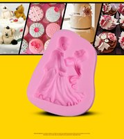 Wholesale Dancing Mold - Silicone Cake Mold Bride And Groom Dance Shape Wedding Cake Decorating For Baking Tools