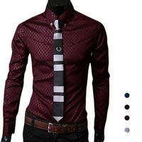 Wholesale Slim Fit Blouse - S5Q Men's Luxury Casual Stylish Slim Fit Business Long Sleeve Lapel Blouse Shirt AAAGFE