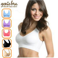 Wholesale bras removable pads - Wholesale- Genie Bra with retail box - 3pcs set - have Removable Pads - Epacket free shipping