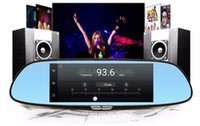 "Wholesale Cam Rear Led - Hopeshine 3G 7"" Car DVR Mirror Camera Android 5.0 wifi GPS Full HD 1080P Video Recorder Dual Lens Registrar Rear view dvrs Dash cam"