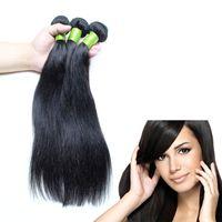 Wholesale Cheap Wholesale Chemicals - Grade 8a hair straight hair cheap hair extensions 3 Pieces lot 100% Natural Human Hair, No chemical dye Human hair extensions