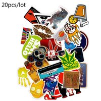 Wholesale Stick For Car - Diy stickers posters wall stickers for kids rooms home decor sticker on laptop skateboard luggage wall decals car sticker 20pcs