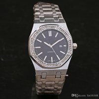 Wholesale Inlay Buckle - Classic style Selling calendar Quartz watch Rhinestone Diamond inlay Clock dial stainless steel Dial Strap Man   Women's Watches Free Shippi