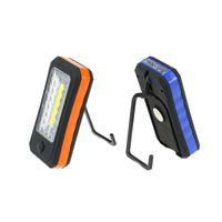 caja de linterna al por menor al por mayor-Mini portátil COB LED linterna 4 LED lámpara de la linterna pesca que acampa de excursión la tienda de adsorción magnética gancho para batería caja al por menor