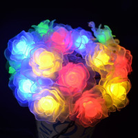 20 LED Solar Powered Rose Flower String Fairy Light para casamento ao ar livre Garden Party Holiday Christmas Decoration