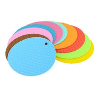 Wholesale Hot Pad Placemats - Silicone Mat Heat Resistant Flexible Durable Round Pot Holder, Potholders Placemats Trivets Bowls Mat And Dish Mat Hot Pads 18cm