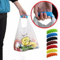 Wholesale Silicone Carrying Handle - 200pcs Silicone Shopping Bag Basket Carrier Grocery Holder Handle Comfortable Grip Popular Carry Shopping Basket Comfortable Grip ZA0830