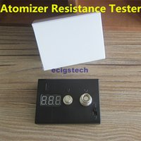 Wholesale Ego Digital Battery - Atomizer Ohm Meter Ecig OHM Tester Digital Ohmmeter Voltmeter Resistance ohm Reader For 510 Ego RDA Evod Ce4 MT3 Atomizer And Batteries