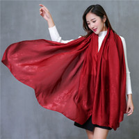 Wholesale Wholesale Red Shawl - Designer Ladies Plain Silk Cotton Tassel Scarf Womens Long Scarves Shawl White Pink Red Purple 23 Solid Color For Gift Sale