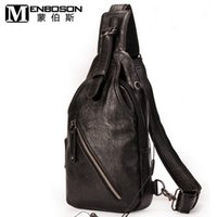 Wholesale Method Man - Brand bag multifunctional business casual fashion trend chest pack high quality leather mens chest pack multiple back method