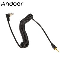Wholesale Screw Cord Lock - Andoer High Quality 3.5mm 40cm Flash Sync Cable Cord with Screw Lock to Male Flash PC for Canon Nikon PIXE