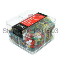 Wholesale Binder Pack - Wholesale- 2017 Deli Office Packs 8499 ( rubber band binder clips word nail paperclip ) free shipping