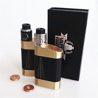 Wholesale Body Rig - Newest Vaporizer The Rig Pig Kit come with The Rig Pig Box Mod and ROUGHNECK RDA fit 18650 Battery Brass Body DHL TZ727