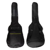 "Wholesale Double Acoustic - 40"" 41"" Acoustic Guitar Double Shoulder Straps Padded Guitar Soft Case Gig Bag Backpack Pockets 5mm Cotton Padded Gig Bag Case"