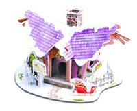 Wholesale Kids Game D Puzzle Paper The Christmas Cottage Model DIY Jigsaw Birthday Gift Children LEANING Kid gift ARCHITECTURE DIY D PUZZLE TOY