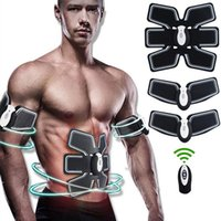 Wholesale Waist Ems - Intelligent Wireless Usb Rechargable Convenient Muscle Training Body Building Ems Muscles Exercise Abdominal exerciser Instrument