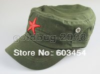 Wholesale Cheap Cadet Hats - Wholesale Cheap New China The army, navy, air force Red Star Military Cadet Canvas Hat