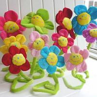 hochzeitsgeschenke kinder großhandel-Wholesale- 33cm Karikatursonnenblumenblumen, Vorhangblume, Blumenplüschspielwaren, Geschenk der Kinder, Hochzeitsgeschenke Wholesale